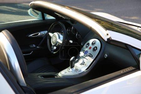 White Bugatti Veyron Interior