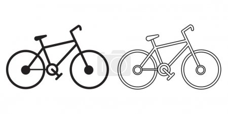 Illustration for Bicycle icon in flat style, vector illustration - Royalty Free Image