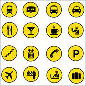 Airport Shopping mall vector Icons set illustrator