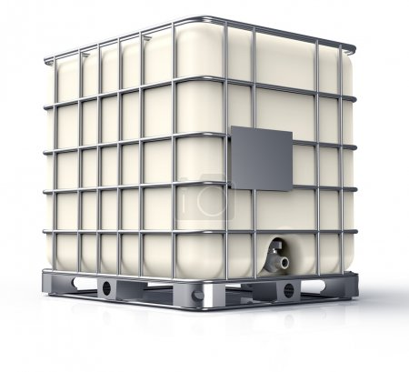 Bulk liquid container isolated on a white background