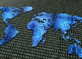Digitální elektronický svět mapa izolované