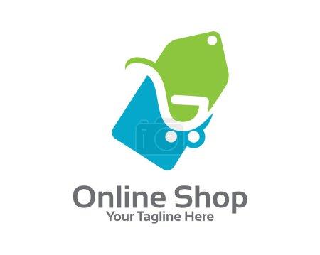 Online store logo design vector.