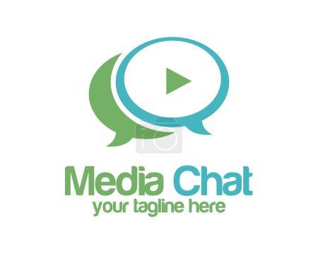 Media chat logo design vector template. Speech bubble vector.