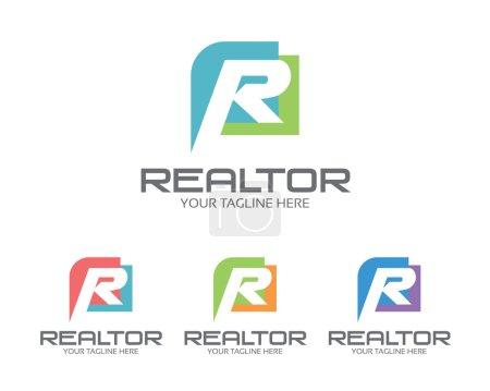 Entreprise lettre d'entreprise R logo modèle de conception. Simple et oncle