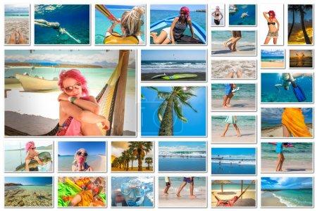 Sea holidays collage