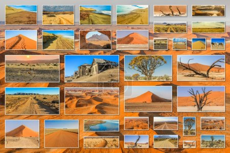 Namibia landscapes collage