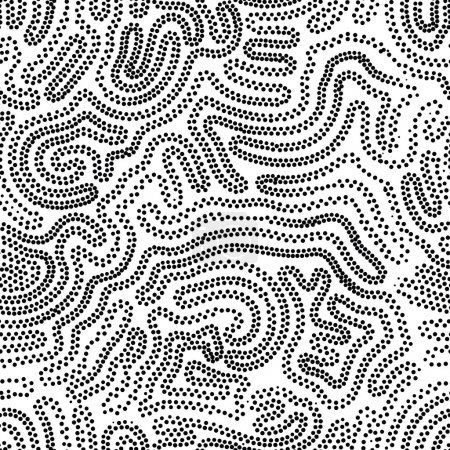 Universal geometric striped dotted seamless pattern. Repeating a