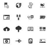 Internet, server, sítě ikony set