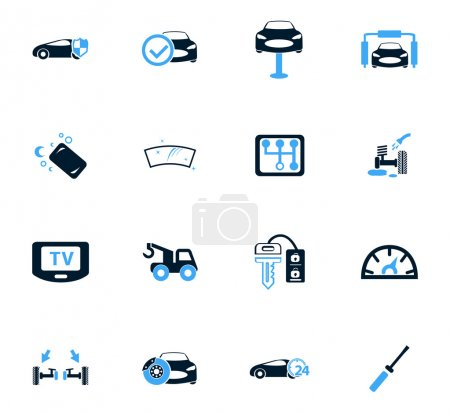 Illustration for Car shop icon set for web sites and user interface - Royalty Free Image