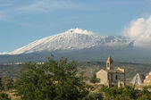 Old Chapel And Volcano Etna
