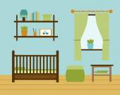 Baby room with furniture