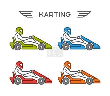 Modern outline go kart symbol.