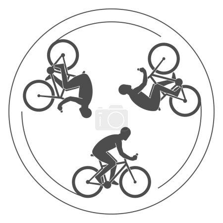 Modern logo cycling club.