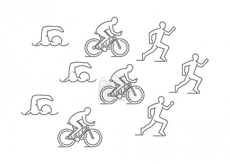 Vector line triathlon symbol