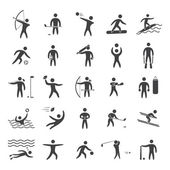 Silhouettes figures of athletes