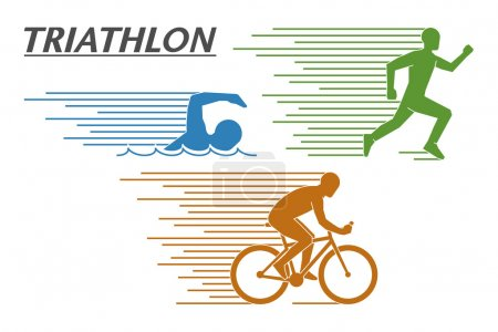 Vector logo triathlon on a white background.