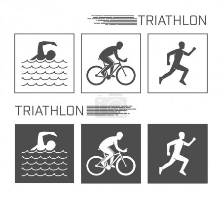 Flat logo triathlon on a white background.
