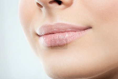 Woman face lips and nose