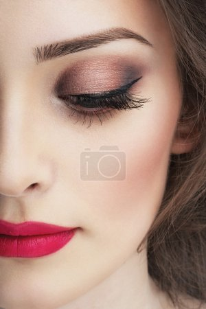 Photo for Close-up portrait of attractive young woman with bright makeup - Royalty Free Image