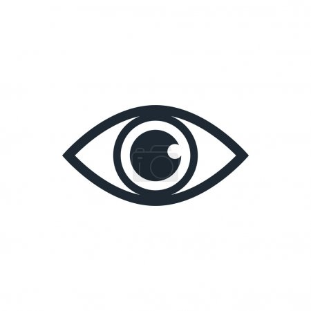 Illustration pour Icône oeil - image libre de droit