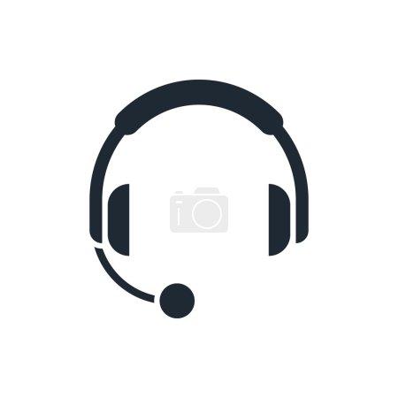 icon headphones with microphone