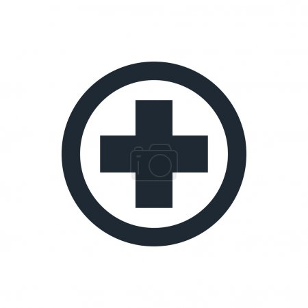 Illustration for Medical cross icon - Royalty Free Image