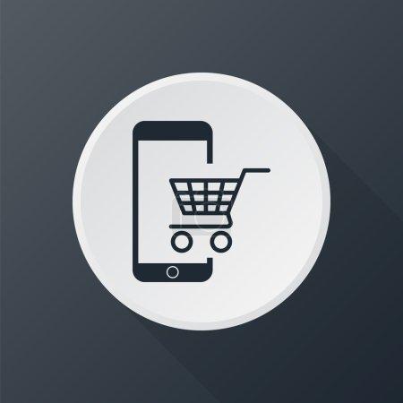 Illustration pour Icône du commerce électronique - image libre de droit