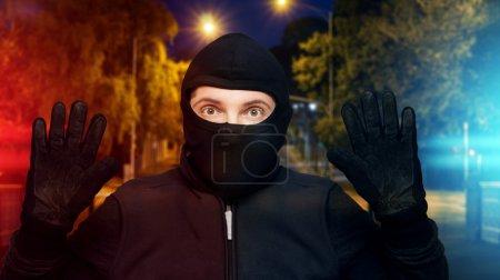 Surprised burglar stopped