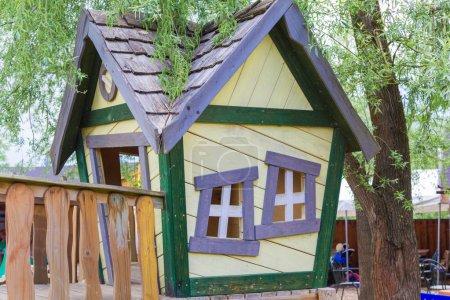 House on playground.