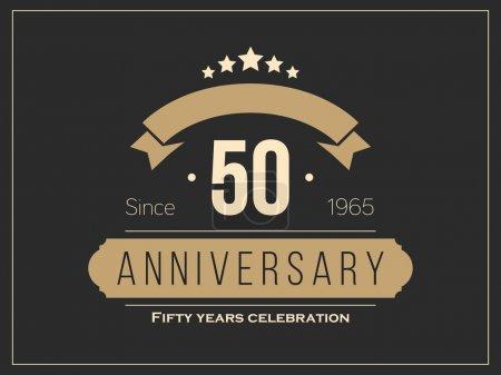 Illustration for Fifty years anniversary celebration logotype. 50th anniversary logo. - Royalty Free Image