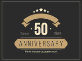 Fifty years anniversary celebration logotype 50th anniversary logo