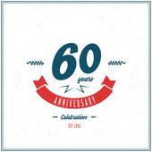 Sixty years anniversary celebration logotype 60th anniversary logo