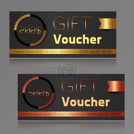 Gift voucher template. Vector illustration.