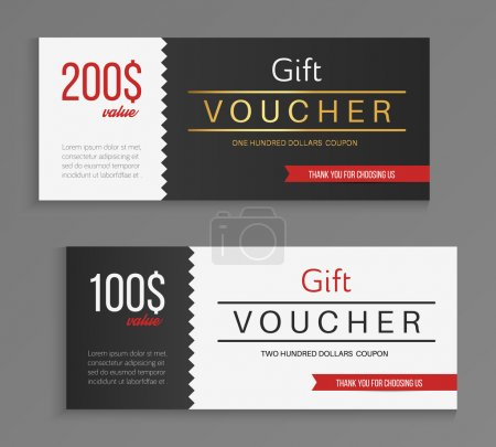 Gift voucher template. Vector illustration.