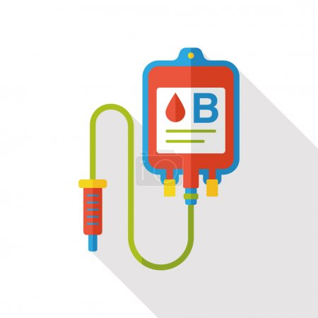 IV bag flat icon