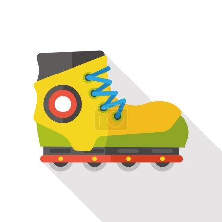 Icône de patin à roulettes plat transport