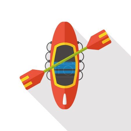 Canoe boat flat icon