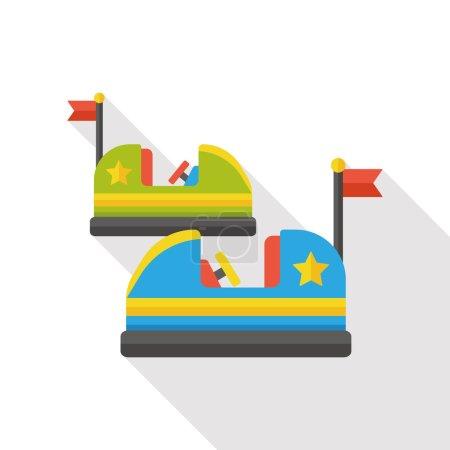 amusement park bumper cars flat icon