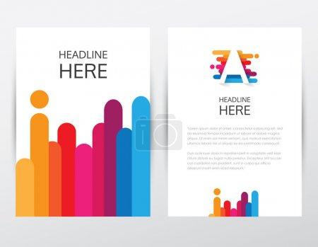 Colorful brochure and letterhead template