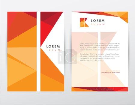 Brochure cover and letterhead template design