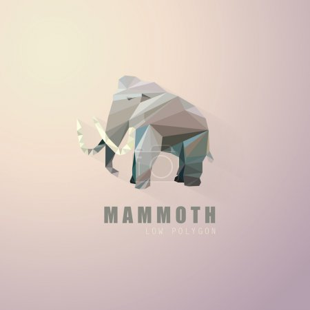 Low polygon style mammoth