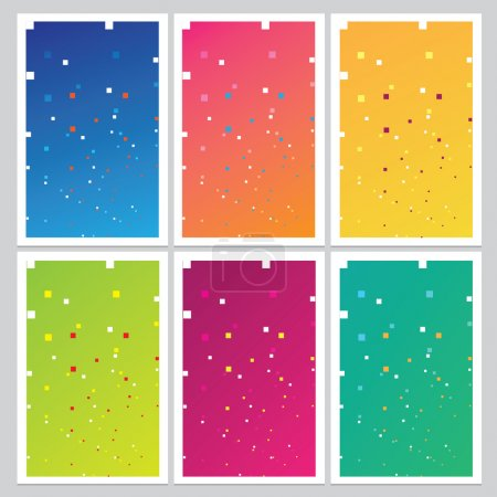 Artistic abstract geometric patterns set