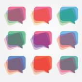 transparency talk bubble logo icons