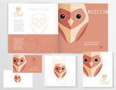 Owl logo elements