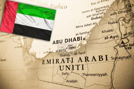 United Arab Emirates with national flag