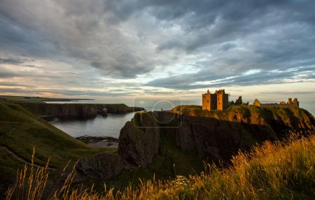 Dunnottar Castle im Abendlicht