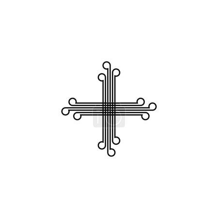 Illustration pour Icône croix chrétienne. Style simple religion chrétienne affiche arrière-plan symbole. Élément de conception de logo. Impression de t-shirt. Vecteur pour autocollant. - image libre de droit