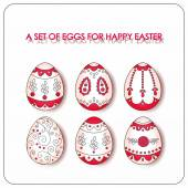 Happy Easter to you! Nice vector set with carved eggs