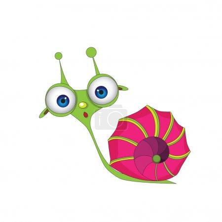 cute, snail, cartoon, shell, animal