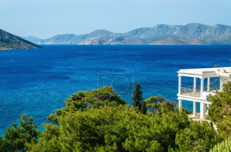 View on sea from typical Greek appartment Greece